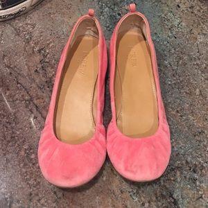 7.5 J. Crew Pink Suede Flats